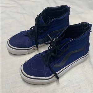 Vans sneakers kid size 1.5 blue with black laces